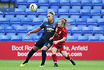 Lauren James of Manchester United Women and Christie Murray of Liverpool Ladies