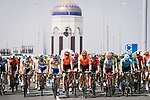 The start of Stage 6 of the 10th Tour of Oman 2019, running 135.5km from Al Mouj Muscat to Matrah Corniche, Oman. 21st February 2019.<br /> Picture: ASO/P. Ballet | Cyclefile<br /> All photos usage must carry mandatory copyright credit (© Cyclefile | ASO/P. Ballet)