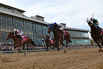April 10, 2015: The rest of the field crossing the finish line in the Apple Blossom Handicap at Oaklawn Park in Hot Springs, AR. Justin Manning/ESW/CSM