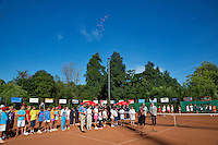 05-08-13, Netherlands, Dordrecht,  TV Desh, Tennis, NJK, National Junior Tennis Championships, Official Opening Ceremony<br /> <br /> <br /> Photo: Henk Koster
