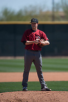 Arizona Diamondbacks relief pitcher Gabe Speier (15) during a Minor League Spring Training intrasquad game at Salt River Fields at Talking Stick on March 12, 2018 in Scottsdale, Arizona. (Zachary Lucy/Four Seam Images)