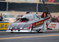 Sep 14, 2018; Mohnton, PA, USA; NHRA funny car driver Jonnie Lindberg during qualifying for the Dodge Nationals at Maple Grove Raceway. Mandatory Credit: Mark J. Rebilas-USA TODAY Sports