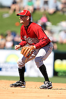 March 5, 2010:  Second Baseman Jeff Keppinger of the Houston Astros during a Spring Training game at Joker Marchant Stadium in Lakeland, FL.  Photo By Mike Janes/Four Seam Images