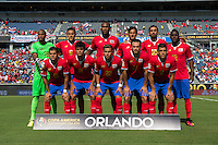 Orlando, Florida - Saturday, June 04, 2016: The Costa Rican starting XI during a Group A Copa America Centenario match between Costa Rica and Paraguay at Camping World Stadium.