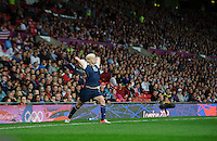 Manchester, England - Monday, August 6, 2012: The USA defeated Canada 4-3 in overtime in the semi-final round of the 2012 London Olympics at Old Trafford.