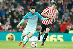 Athletic de Bilbao's Mikel San Jose (r) and FC Barcelona's Leo Messi during Spanish Kings Cup match. January 05,2017. (ALTERPHOTOS/Acero)