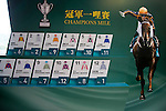 SHA TIN,HONG KONG-APRIL 28: The result of barrier draw for Chairman's Sprint Priza at Champions Mile/Chairman's Sprint Prize Barrier Draw at Sha Tin Racecourse on April 28,2016 in Sha Tin,New Territories,Hong Kong (Photo by Kaz Ishida/Eclipse Sportswire/Getty Images)