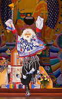 MASKED CHAM DANCER during TIBET NIGHT at a DALAI LAMA teaching in October 2007 sponsored by KUMBUM CHAMTSE LING & the TIBETAN CULTURAL CENTER - BLOOMINGTON, INDIANA