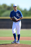 Kansas City Royals pitcher Corey Ray (46) during an Instructional League game against the NC Dinos on October 3, 2014 at Peoria Sports Complex in Peoria, Arizona.  (Mike Janes/Four Seam Images)