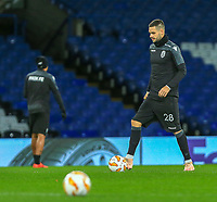 Yevhen Shakhov of PAOK during training and press conference at Stamford Bridge, London