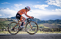 Anna van der Breggen (NED/Boels-Dolmans) soloing up the Cima Gallisterna Climb (2.3km @ 7%) <br /> <br /> Women's Elite Road Race from Imola to Imola (143km)<br /> <br /> 87th UCI Road World Championships 2020 - ITT (WC)<br /> <br /> ©kramon