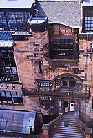 Exterior view of Glasgow School of Art, 1845 designed by Charles Rennie Mackintosh. Glasgow, Scotland.