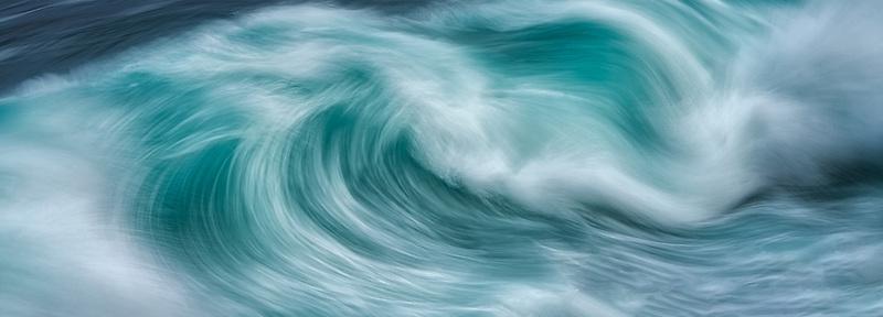 Waves off Hawaii coast.