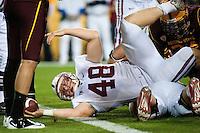 TEMPE, AZ - November 13, 2010: Owen Marecic during a football game at Arizona State University in Tempe, Arizona. Stanford won 17-13.