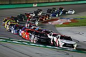 NASCAR XFINITY Series<br /> VisitMyrtleBeach.com 300<br /> Kentucky Speedway<br /> Sparta, KY USA<br /> Saturday 23 September 2017<br /> Kyle Benjamin, Hurricane Relief Toyota Camry and Ryan Preece, Hurricane Relief Toyota Camry leads the field to the green flag<br /> World Copyright: Barry Cantrell<br /> LAT Images