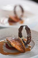 Europe/France/Bretagne/56/Morbihan/Port-Louis:  Rouget à la tomate et poivrons, recette de Patrice Gahinet - Restaurant: Avel-Vor