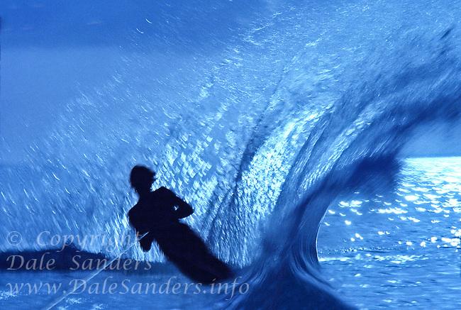 700-00033833                             Silhoette of a Water Skier.        Model Released