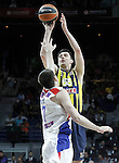 Fenerbahce Ulker Istambul's Emir Preldzic (t) and CSKA Moscow's Vitaly Fridzon during Euroleague Third Place Game. May 15,2015. (ALTERPHOTOS/Acero)