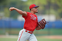 Philadelphia Phillies pitcher Jose Ulloa (61) during an Instructional League game against the Toronto Blue Jays on September 27, 2019 at Englebert Complex in Dunedin, Florida.  (Mike Janes/Four Seam Images)