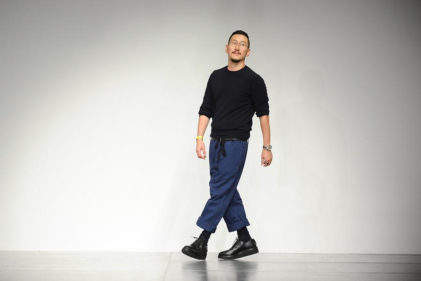 designer, Eudon Choi<br /> at the Eudon Choi SS18 Show as part of London Fashion Week, London<br /> <br /> <br /> ©Ash Knotek  D3308  15/09/2017