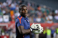 Goalkeeper Bill Hamid (12) of the United States. The men's national teams of the United States (USA) and Mexico (MEX) played to a 1-1 tie during an international friendly at Lincoln Financial Field in Philadelphia, PA, on August 10, 2011.