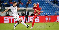 6th August 2020, Basel, Switzerland. UEFA National League football, Switzerland versus Germany;  Niklas Sule, ger tries to block the shot from Haris Seferovic sui