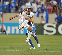 Daryll Roberts (12) Of Trinidad & Toabago.  Trinidad & Tobago tied El Salvador 1-1 in the first round of the Concacaf Gold Cup, at Red Bull Arena, Monday July 8 , 2013.