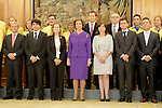 Queen Sofia of Spain attends an audience receiving to Spanish mailing service CORREOS and the Industrial Participation State Service at Zarzuela Palace in Madrid, Spain. (ALTERPHOTOS/Victor Blanco)