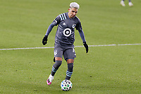 ST PAUL, MN - NOVEMBER 22: Emanuel Reynoso #10 of Minnesota United FC controls the ball during a game between Colorado Rapids and Minnesota United FC at Allianz Field on November 22, 2020 in St Paul, Minnesota.
