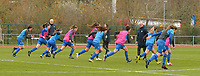 players of Genk  pictured during a female soccer game between SV Zulte - Waregem and KRC Genk on the 8 th matchday of the 2020 - 2021 season of Belgian Scooore Women s SuperLeague , saturday 21 th of November 2020  in Zulte , Belgium . PHOTO SPORTPIX.BE | SPP | DIRK VUYLSTEKE
