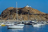 Halbinsel mit Leuchtturm und Hafen L'Ile Rousse, Korsika, Frankreich