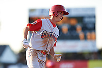 Williamsport Crosscutters outfielder Zachary Coppola (11) running the bases during a game against the Batavia Muckdogs on July 15, 2015 at Dwyer Stadium in Batavia, New York.  Williamsport defeated Batavia 6-5.  (Mike Janes/Four Seam Images)