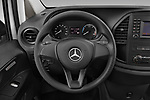 Car pictures of steering wheel view of a 2020 Mercedes Benz eVito Base 4 Door Cargo Van Steering Wheel