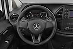 Car pictures of steering wheel view of a 2020 Mercedes Benz eVito Base 4 Door Cargo Van Steering Wheel