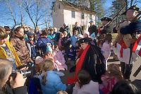 Revolutionary War Reenactors, George Washington offering a living history lesson, Washington Crossing State Park, New Jersey