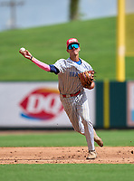 Braddock Bulldogs Jose Hernandez (6) during the 42nd Annual FACA All-Star Baseball Classic on June 6, 2021 at Joker Marchant Stadium in Lakeland, Florida.  (Mike Janes/Four Seam Images)