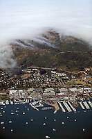 aerial photograph, fog Sausalito, Marin County, California