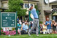 4th June 2021; Dublin, Ohio, USA; Tekumi Kanaya (JPN) watches his tee shot on 10 during the Memorial Tournament Rd2 at Muirfield Village Golf Club on June 4, 2021 in Dublin, Ohio.