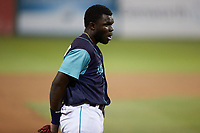 Lynchburg Hillcats third baseman Jhonkensy Noel (29) during the game against the Myrtle Beach Pelicans at Bank of the James Stadium on May 22, 2021 in Lynchburg, Virginia. (Brian Westerholt/Four Seam Images)