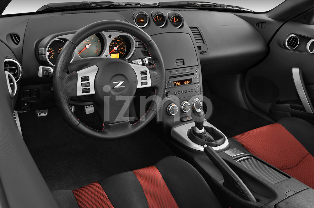 High angle dashboard view of a 2008 Nissan 350z Coupe Nismo