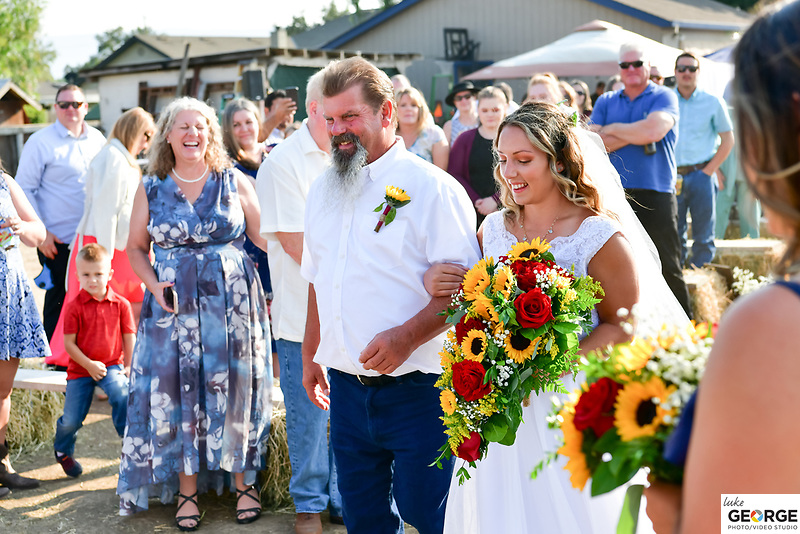 Haylee and Brandon's families unite on their Gilroy family farm.