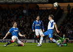 Jon Daly scoops the ball over the bar