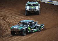 Mar. 19, 2011; Chandler, AZ, USA;  LOORRS pro lite driver Cameron Steele leads Casey Currie during round one at Firebird International Raceway. Mandatory Credit: Mark J. Rebilas-US PRESSWIRE