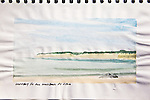 Whidbey Island from North Beach, watercolor, Journal Art 2010,