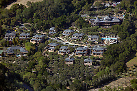 aerial photograph of Auberge du Soleil, Rutherford, Napa County, California