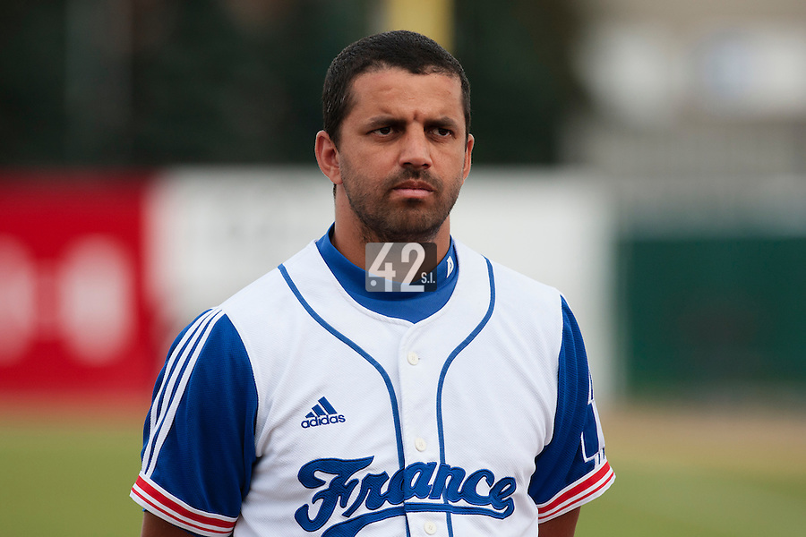 19 August 2010: Jamel Boutagra of Team France is seen prior to France 7-6 win over Slovakia, at the 2010 European Championship, under 21, in Brno, Czech Republic.