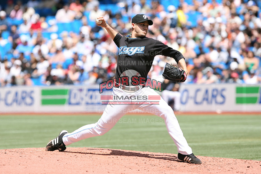 May 25th 2008:  Starting pitcher Dustin McGowan (29) of the Toronto Blue Jays during a game at the Rogers Centre in Toronto, Ontario, Canada .  Photo by:  Mike Janes/Four Seam Images