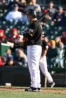 2007:  Lew Ford of the Rochester Red Wings delivers a pitch at Frontier Field during an International League baseball game. Photo By Mike Janes/Four Seam Images