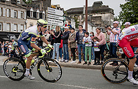 breakaway group passing through town<br /> <br /> Stage 1 from Brest to Landerneau (198km)<br /> 108th Tour de France 2021 (2.UWT)<br /> <br /> ©kramon
