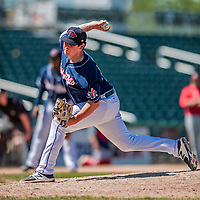 31 May 2018: New Hampshire Fisher Cats pitcher Andrew Case on the mound against the Portland Sea Dogs at Northeast Delta Dental Stadium in Manchester, NH. The Sea Dogs defeated the Fisher Cats 12-9 in extra innings. Mandatory Credit: Ed Wolfstein Photo *** RAW (NEF) Image File Available ***